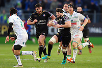 Guy Mercer of Bath Rugby goes on the attack. European Rugby Challenge Cup match, between Bath Rugby and Pau (Section Paloise) on January 21, 2017 at the Recreation Ground in Bath, England. Photo by: Patrick Khachfe / Onside Images