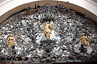 Baroque lattice wraught iron work  work of Henrik Fazola (1730-99), County Hall, , Eger, Hungary