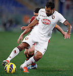 Calcio, Serie A: AS Roma vs Torino. Roma, stadio Olimpico, 19 novembre 2012..Torino midfielder Mario Alberto Santana, of Argentina, in action during the Italian Serie A football match between AS Roma and Torino at Rome's Olympic stadium, 19 November 2012..UPDATE IMAGES PRESS/Isabella Bonotto