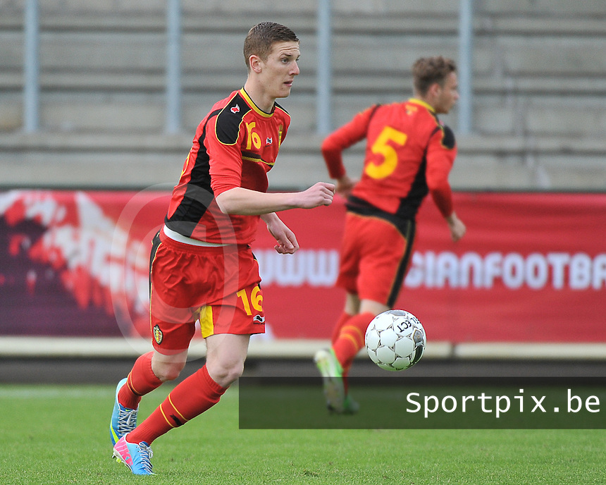 Belgium U19 - England U19 : Gianni De Neve.foto DAVID CATRY / Nikonpro.be