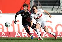 FUSSBALL   1. BUNDESLIGA  SAISON 2011/2012   10. Spieltag 1 FC Nuernberg - VfB Stuttgart         22.10.2011 Marvin Plattenhardt (li, 1 FC Nuernberg) gegen William Kvist (VfB Stuttgart)