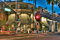 Tommy Bahama's Specialty Clothing Restaurant, El Paseo Drive, Palm Desert, CA; California; famous; retailers; fashion; haute couture; shopping, Palm Springs, CA High dynamic range imaging (HDRI or HDR)