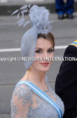 """30.04.2013; Amsterdam: KING WILLEM-ALEXANDER INAUGURATION.CROWN PRINCESS LETIZIA OF SPAIN.attend King Willem-Alexander's inauguration at Nieuwe Kerk, Amsterdam, The Netherlands, .Mandatory Credit Photos: ©NEWSPIX INTERNATIONAL..**ALL FEES PAYABLE TO: """"NEWSPIX INTERNATIONAL""""**..PHOTO CREDIT MANDATORY!!: NEWSPIX INTERNATIONAL(Failure to credit will incur a surcharge of 100% of reproduction fees)..IMMEDIATE CONFIRMATION OF USAGE REQUIRED:.Newspix International, 31 Chinnery Hill, Bishop's Stortford, ENGLAND CM23 3PS.Tel:+441279 324672  ; Fax: +441279656877.Mobile:  0777568 1153.e-mail: info@newspixinternational.co.uk"""