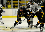 1 December 2007: University of Vermont Catamounts' forward Brayden Irwin, a Sophomore from Toronto, Ontario, in action against the Providence College Friars at Gutterson Fieldhouse in Burlington, Vermont. The Friars defeated the Catamounts 4-0 in front of a capacity crowd of 4003, for the 64th consecutive sell-out at Gutterson...Mandatory Photo Credit: Ed Wolfstein Photo