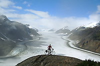 Brook Allen in front of Salmon Glacier  (the fifth largest in North America) - Alaska - USA