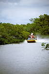 FL: Florida Everglades National Park,.Airboat ride near Marco Island..Photo Copyright: Lee Foster, lee@fostertravel.com, www.fostertravel.com, (510) 549-2202.Image: flever239
