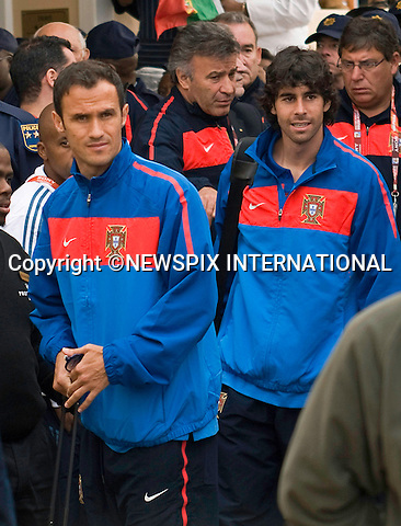 "EXCLUSIVE!! .Must telephone +441279 324672 for reproduction fees and usage..RICARDO CARVALHO AND TIAGO.arrive at the hotel prior to Portugal's first game with Cote D'Ivoire in Port Elizabeth..Unfortunately the team had to contend with torrential on the first practice session_14/06/2010.Mandatory Credit Photos: ©Newspix International..**ALL FEES PAYABLE TO: ""NEWSPIX INTERNATIONAL""**..PHOTO CREDIT MANDATORY!!: NEWSPIX INTERNATIONAL(Failure to credit will incur a surcharge of 100% of reproduction fees)..IMMEDIATE CONFIRMATION OF USAGE REQUIRED:.Newspix International, 31 Chinnery Hill, Bishop's Stortford, ENGLAND CM23 3PS.Tel:+441279 324672  ; Fax: +441279656877.Mobile:  0777568 1153.e-mail: info@newspixinternational.co.uk"