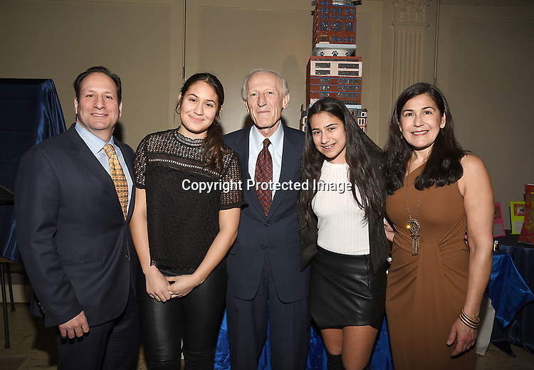 Janarth Duque Sachs and Dr Soghoian and her family  attend the Columbia Grammar & Prep School 2017 Benefit on March 8, 2017 at Cipriani Wall Street in New York, New York.