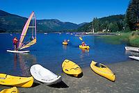 Whistler, BC, British Columbia, Canada - Kayaking and Windsurfing on Alta Lake, Summer