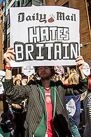 "06.10.2013 - The People's Assembly protest: ""The Daily Mail Hates Britain"""