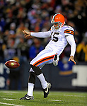 17 November 2008:  Cleveland Browns' punter Dave Zastudil kicks one against the Buffalo Bills at Ralph Wilson Stadium in Orchard Park, NY. The Browns defeated the Bills 29-27 in the Monday Night AFC matchup. *** Editorial Sales Only ****..Mandatory Photo Credit: Ed Wolfstein Photo