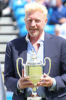 Four-time champion Boris Becker at Aegon Queens Tennis Championship June 17, 2016 in London England.<br />