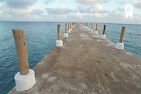 Mexico, Yucatan, Quintana Roo, Cancun, jetty at sunrise (Licence this image exclusively with Getty: http://www.gettyimages.com/detail/200387970-001 )