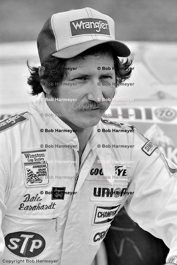 DAYTONA BEACH, FL - FEBRUARY 14: Dale Earnhardt after qualifying for the Daytona 500 on February 14, 1982, at the Daytona International Speedway in Daytona Beach, Florida.