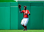 20 June 2010: Washington Nationals' outfielder Nyjer Morgan in action against the Chicago White Sox at Nationals Park in Washington, DC. The Nationals were swept by the White Sox falling 6-3 in the last game of their 3-game interleague series. Mandatory Credit: Ed Wolfstein Photo