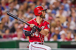 22 August 2015: Washington Nationals outfielder Bryce Harper in action against the Milwaukee Brewers at Nationals Park in Washington, DC. The Nationals defeated the Brewers 6-1 in the second game of their 3-game weekend series. Mandatory Credit: Ed Wolfstein Photo *** RAW (NEF) Image File Available ***