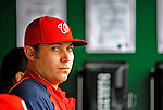 12 April 2008: Washington Nationals' pitcher Matt Chico glances across the dugout prior to a rain delayed game against the Atlanta Braves at Nationals Park, in Washington, DC. The Braves defeated the Nationals 10-2...Mandatory Photo Credit: Ed Wolfstein Photo