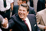 Ronald Reagan campaigning in Cincinnati, Ohio during the 1980 presidential campaign.