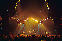 The Grateful Dead performing Truckin' Live at The Civic Center, Hartford Connecticut 18 March 1990. Wide Lighting Design 'Look' Image Capture.