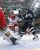 Cameron Schilling (Miami - 5), Jeff Silengo (UNH - 18) - The University of New Hampshire Wildcats defeated the Miami University RedHawks 3-1 (EN) in their NCAA Northeast Regional Semi-Final on Saturday, March 26, 2011, at Verizon Wireless Arena in Manchester, New Hampshire.