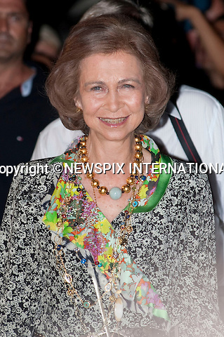 "Queen Sofia of Spain_.A pre-Wedding eveing party on the island of Spetses prior to the wedding of Prince Nikolaos and Tatiana Blatnik tomorrow at St Nikolaos Church_24/08/2010.Mandatory Credit Photo: ©DIAS-NEWSPIX INTERNATIONAL..**ALL FEES PAYABLE TO: ""NEWSPIX INTERNATIONAL""**..IMMEDIATE CONFIRMATION OF USAGE REQUIRED:.Newspix International, 31 Chinnery Hill, Bishop's Stortford, ENGLAND CM23 3PS.Tel:+441279 324672  ; Fax: +441279656877.Mobile:  07775681153.e-mail: info@newspixinternational.co.uk"