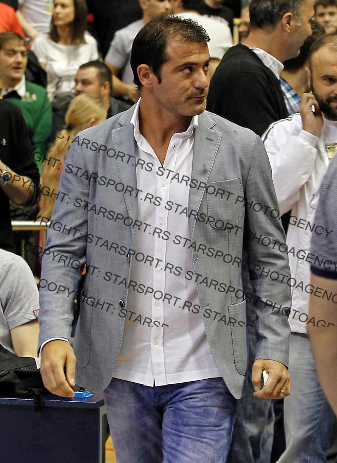 Dejan Stankovic Kosarka, play off final match three III Basketball<br /> Agroziv Superliga season 2012-2013 <br /> Partizan Crvena Zvezda<br /> Belgrade, 10.6.2013<br />  (credit: Pedja Milosavljevic  / thepedja@gmail.com / +381641260959)