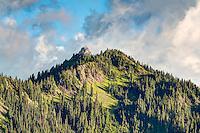 One of the many incredibly beautiful subalpine mountain peaks seen from Hurricane Ridge in Washington's Olympic Mountains.