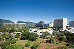 City skyline including Hilton Hotel, Reef Hotel Casino and Sebel.  Cairns, Queensland, Australia