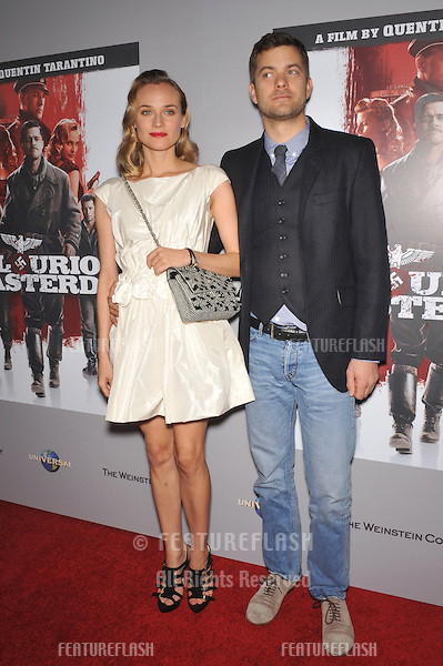 """Diane Kruger & Joshua Jackson at the DVD launch of her movie """"Inglourious Basterds"""" at the New Beverly Cinema, Los Angeles..December 14, 2009  Los Angeles, CA.Picture: Paul Smith / Featureflash"""