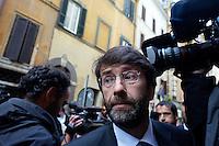 Roma  23 Aprile 2013.Si riunusce  la direzione nazionale del Partito Democratico. Dario Franceschini