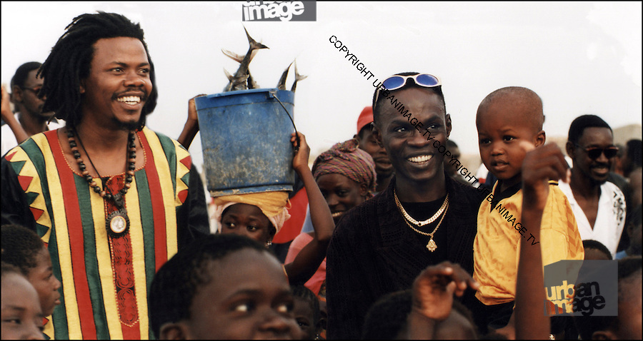 Luciano with Baaba Maal in Senegal