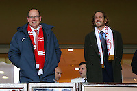 Prince Albert Of Monaco and Andrea Casiraghi attend semi final cup football match - Monaco