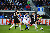 VOETBAL: HEERENVEEN: Abe Lenstra Stadion, SC Heerenveen - Vitesse, 21-01-2012, Jan-Arie van der Heijden (#4), Filip Djuricic (#11), Guram Kashia (#37), Eindstand 1-1, ©foto Martin de Jong