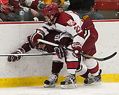 Christian Long (Colgate - 10), Luke Greiner (Harvard - 26) - The Harvard University Crimson defeated the Colgate University Raiders 4-1 (EN) on Friday, February 15, 2013, at the Bright Hockey Center in Cambridge, Massachusetts.