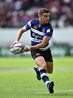 George Ford of Bath Rugby looks to pass the ball. European Rugby Challenge Cup Semi Final, between Stade Francais and Bath Rugby on April 23, 2017 at the Stade Jean-Bouin in Paris, France. Photo by: Patrick Khachfe / Onside Images