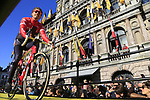 Trek-Segafredo team on stage at sign on before the 101st edition of the Tour of Flanders 2017 running 261km from Antwerp to Oudenaarde, Flanders, Belgium. 26th March 2017.<br /> Picture: Eoin Clarke | Cyclefile<br /> <br /> <br /> All photos usage must carry mandatory copyright credit (&copy; Cyclefile | Eoin Clarke)