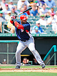 16 March 2009: Washington Nationals' outfielder Wily Mo Pena at bat during a Spring Training game against the Florida Marlins at Roger Dean Stadium in Jupiter, Florida. The Nationals defeated the Marlins 3-1 in the Grapefruit League matchup. Mandatory Photo Credit: Ed Wolfstein Photo