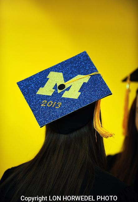 University of Michigan Honor's Program Commencement at Crisler Center, Friday, May 3, 2013.