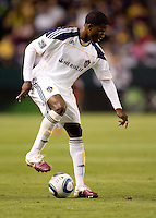 LA Galaxy forward Edson Buddle (14) moves over the ball. The LA Galaxy and Toronto FC played to a 0-0 draw at Home Depot Center stadium in Carson, California on Saturday May 15, 2010.  .