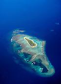 Ile Améré, Réserve spéciale marine Yves Merlet, lagon Sud, Nouvelle-Calédonie. Fait partie des sites classés au Patrimoine Mondial de l'Humanité (UNESCO)