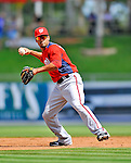 28 February 2011: Washington Nationals' infielder Ian Desmond warms up prior to a Spring Training game against the New York Mets at Digital Domain Park in Port St. Lucie, Florida. The Nationals defeated the Mets 9-3 in Grapefruit League action. Mandatory Credit: Ed Wolfstein Photo