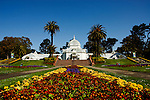 California, San Francisco: Floral display in front of the Conservatory of Flowers in Golden Gate Park..Photo #: 23-casanf78879.Photo © Lee Foster 2008