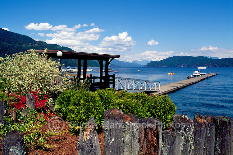 Harrison Lake at Harrison Hot Springs Resort, Southwestern British Columbia, Canada, in Summer
