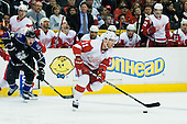 Danny Cleary (Detroit Red Wings, #11) during ice-hockey match between Los Angeles Kings and Detroit Red Wings in NHL league, February 28, 2011 at Staples Center, Los Angeles, USA. (Photo By Matic Klansek Velej / Sportida.com)