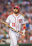25 August 2016: Washington Nationals first baseman Ryan Zimmerman in action against the Baltimore Orioles at Nationals Park in Washington, DC. The Nationals blanked the Orioles 4-0 to salvage one game of their 4-game home and away series. Mandatory Credit: Ed Wolfstein Photo *** RAW (NEF) Image File Available ***