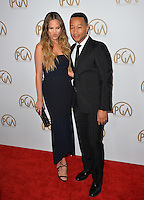 John Legend &amp; Chrissy Teigen at the 2017 Producers Guild Awards at The Beverly Hilton Hotel, Beverly Hills, USA 28th January  2017<br /> Picture: Paul Smith/Featureflash/SilverHub 0208 004 5359 sales@silverhubmedia.com