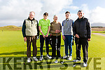 Enjoying a round of golf in Waterville on Sunday were l-r; Tom Murphy, Patrick Devane, Liam Higgins, Pádraig & Connor Maher.