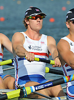 Brest, Belarus. GBR M4-  George NASH , competing in Sat's Semi Final at the 2010. FISA U23 Championships. Saturday,  24/07/2010.  [Mandatory Credit Peter Spurrier/ Intersport Images]