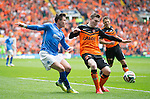 St Johnstone v Dundee United....17.05.14   William Hill Scottish Cup Final<br /> Michael O'Halloran gets around Andrew Robertson<br /> Picture by Graeme Hart.<br /> Copyright Perthshire Picture Agency<br /> Tel: 01738 623350  Mobile: 07990 594431