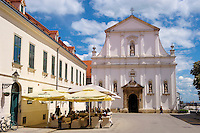 Baroque facade of the Jesuit  Crkva sv. Katarine [ Church St. Catherine ] Gradec ,  St , Zagreb, Croatia